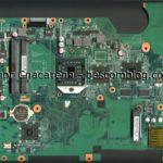 Материнская плата (скан в высоком разрешении) Quanta DA00P8MB6D0 Rev:D ноутбука HP Compaq Presario CQ61