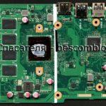 Материнская плата (скан в высоком разрешении) Asus X540MA Rev.2.0 ноутбука Asus VivoBook X540M